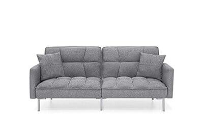Futon Linen Tufted Split Back Couch