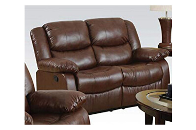 Flash Furniture Harmony Series Brown LeatherSoft Loveseat