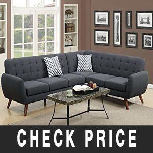 Poundex Bobkona Polyfabric Sectional