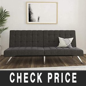 DHP Emily Futon Couch Bed, Modern Sofa