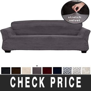 Velvet Plush Stretch Sofa Slipcover