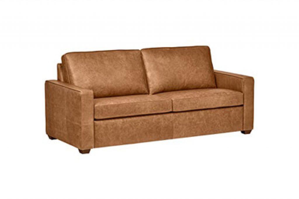 Rivet Andrews Contemporary Top-Grain Leather Sofa
