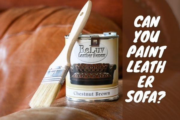 Can You Paint Leather Sofa