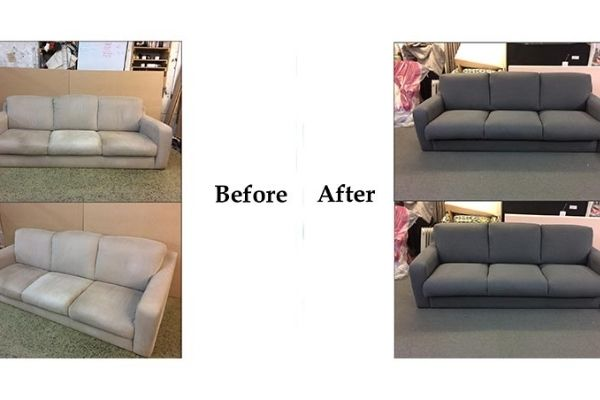 Can a Leather Sofa Be Reupholstered in Fabric