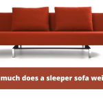 how much does a sleeper sofa weigh?
